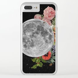 .Stuck Behind the Moon. Clear iPhone Case