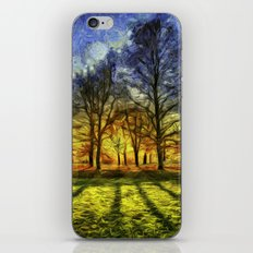 Greenwich Park London Sunset Art iPhone & iPod Skin