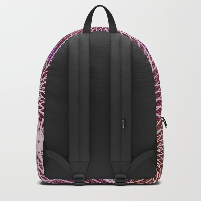 FLORAL IN RED AND VIOLET Backpack