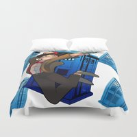 doctor who Duvet Covers featuring Doctor Who by Lucy Fidelis
