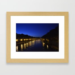 Romantic evening Framed Art Print