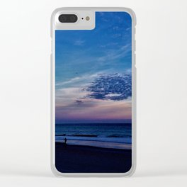 Winter Clouds Clear iPhone Case