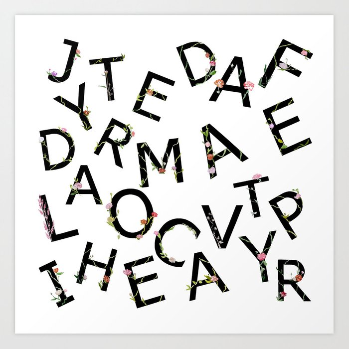 Letters Pattern Art Print