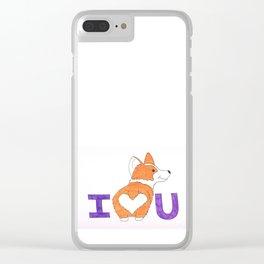 Corgi Butt Love you Clear iPhone Case