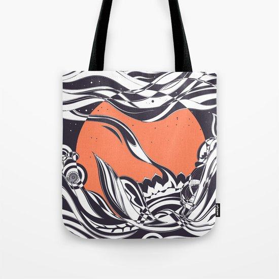 Ink sunset Tote Bag