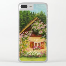 Tiny Cottage House Clear iPhone Case