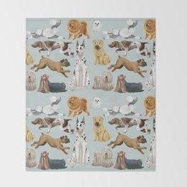 Dogs Gone Wild Throw Blanket