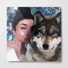 nis x wolf Metal Print