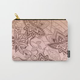 Henna Lotus Carry-All Pouch