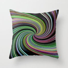 Abstract Colorful Twirl Throw Pillow