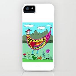 Funny Western Rooster Chicken iPhone Case