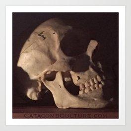 Catacomb Culture - Real Human Skull Oddity Art Print