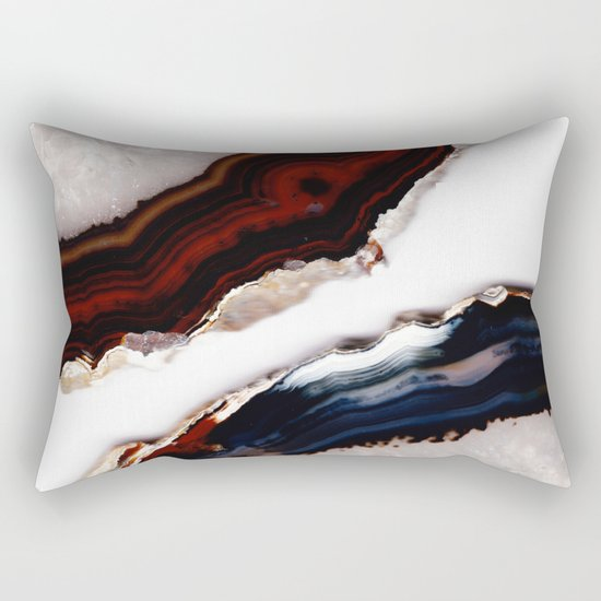 Red meets Blue - Agate Translucent #1 #decor #art #society6 Rectangular Pillow