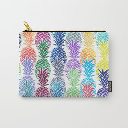 Colorful Watercolor Pineapple Pattern Carry-All Pouch