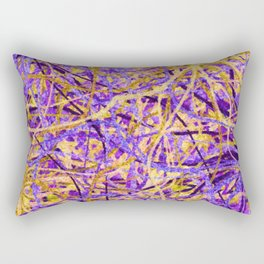 Purple and Gold Celebration Rectangular Pillow