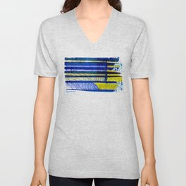 WAY OF THE OCEAN - Yellow & Blue Waves Unisex V-Neck