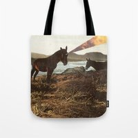 pony Tote Bags featuring PONY by KELLY SCHIRMANN