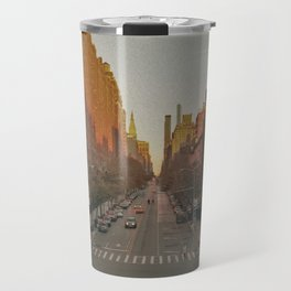 The Yellow Muted City (Color) Travel Mug