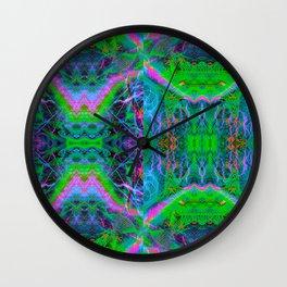 Techno Electric II (Ultraviolet) Wall Clock