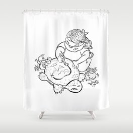 Ninja Master of Planning Shower Curtain