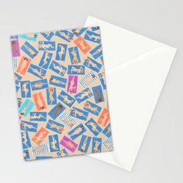 NUDE BEACH, pattern by Frank-Joseph Stationery Cards