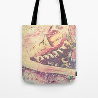 converse Tote Bags featuring Converse by Nechifor Ionut