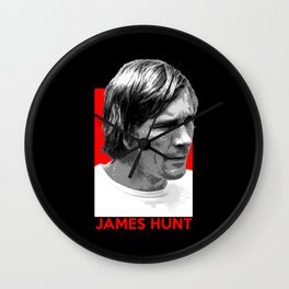Formula One - James Hunt Wall Clock