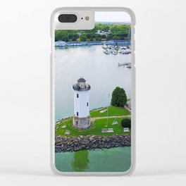 Lighthouse Harbor Clear iPhone Case