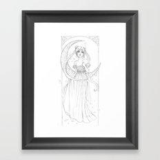 Sailor Moon-B&W Framed Art Print