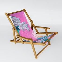 Vaporwave Aesthetic Great Wave Off Kanagawa Sling Chair