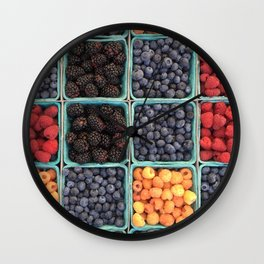Berries At Market Wall Clock