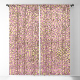 Homemade wiggly pattern Sheer Curtain