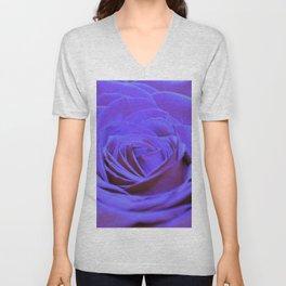 Purple Blue Rose Unisex V-Neck