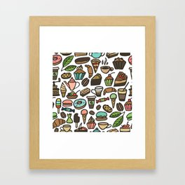 Coffee and pastry. Framed Art Print