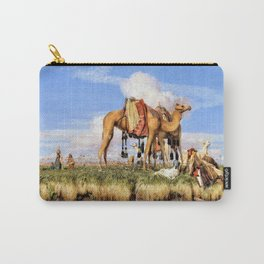 12,000pixel-500dpi - On The Banks Of The Nile, Upper Egypt - John Frederick Lewis Carry-All Pouch