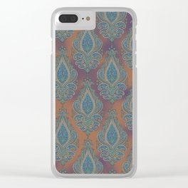 paisley in cinnamon Clear iPhone Case
