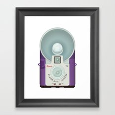 VINTAGE CAMERA PURPLE Framed Art Print