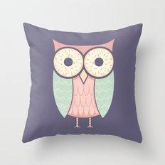 Owl Have Doughnuts Throw Pillow
