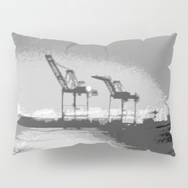 """Harbor Cranes 5"" by Murray Bolesta! Pillow Sham"