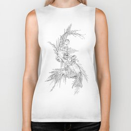 Flowers and Sparrows Biker Tank