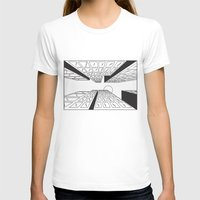 buildings T-shirts featuring Buildings by Koral Feria