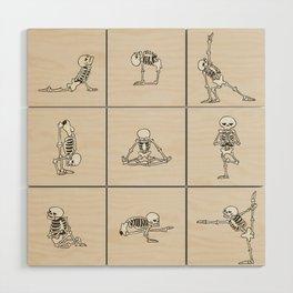 Skeleton Yoga Wood Wall Art