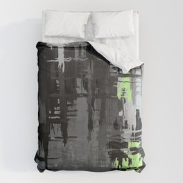 Agender Pride Rough Crosshatched Paint Strokes Comforters