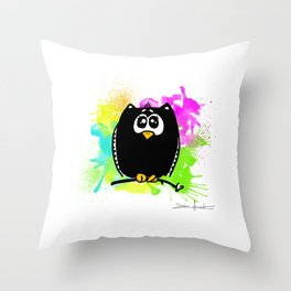 The owl without name Throw Pillow