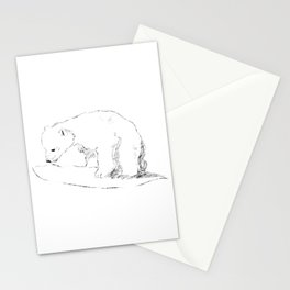 Inquisitive bear Stationery Cards