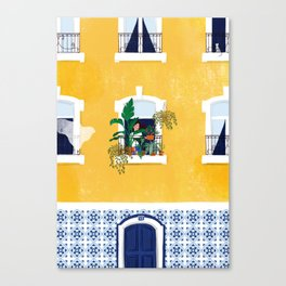 Lisbon girl Canvas Print