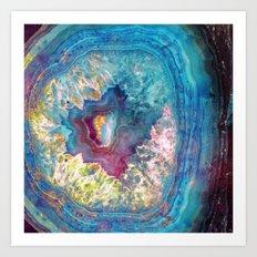 425 26 Abalone Geode Art Print