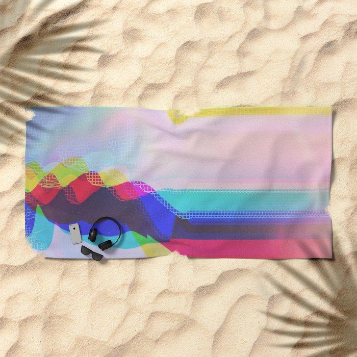 Glitch 27 Beach Towel
