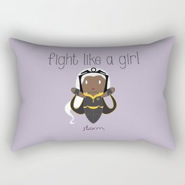 Fight Like a Girl 34 - Storm Rectangular Pillow