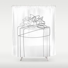 """Christmas Collection"" - Minimal Gift Box Print Shower Curtain"